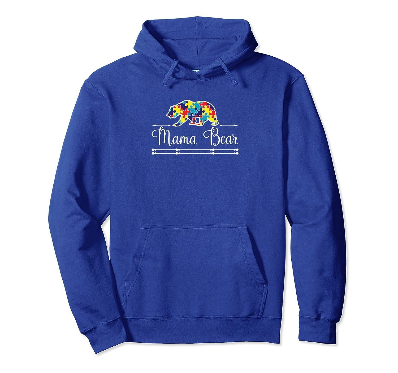 Autism Mom Mama Bear ASD Awareness Pullover Hoodie-ah my shirt one gift