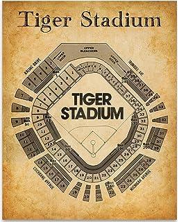 Old Tiger Stadium Seating Chart - 11x14 Unframed Art Print - Great Sports  Bar Decor and 0612fdfcb