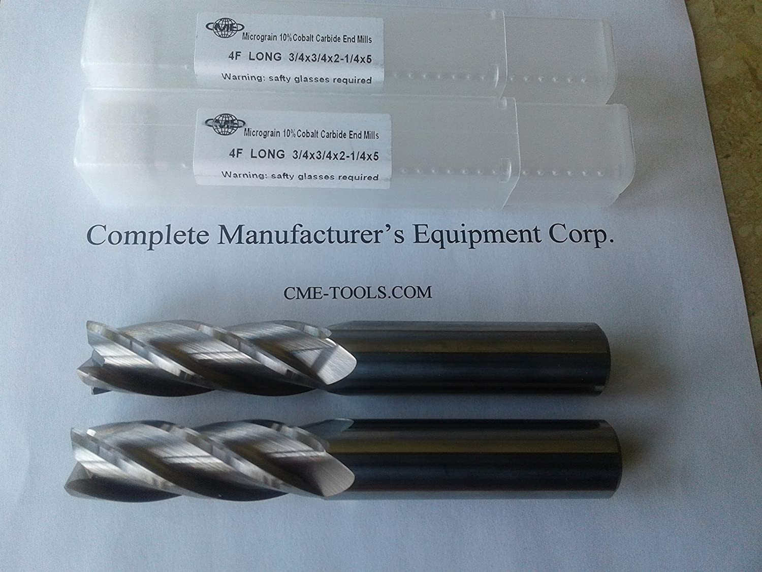 "Coarse Tooth 1/"" Cobalt Steel Roughing End Mills Long Length"