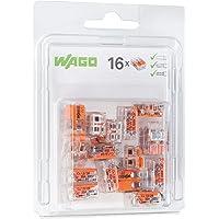 Wago 221–412/996–016abrazadera de conexión Compact, transparente (16unidades)