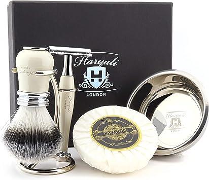 Haryali London - Kit de afeitado para hombre con doble filo de ...