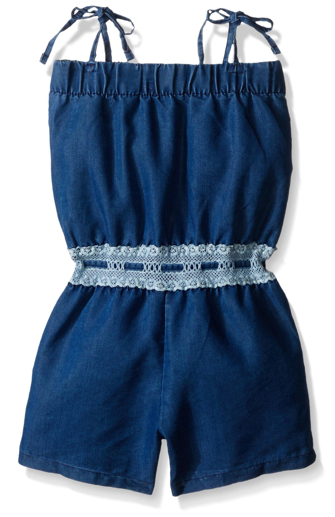 kensie Girls' Short Romper, 1322-Medium Blue Denim, 5/6 by kensie (Image #2)