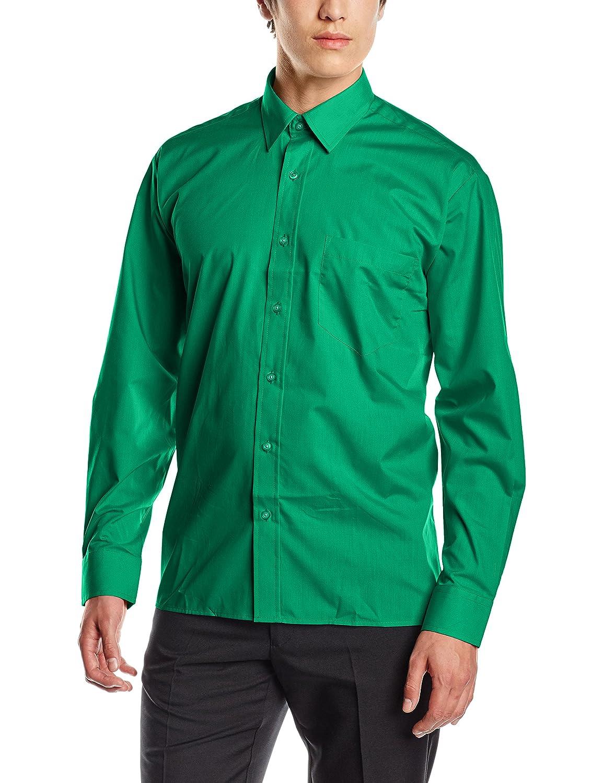 Premier Workwear Poplin Long Sleeve Shirt, Chemise Business Homme