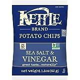 Kettle Brand Potato Chips, Sea Salt and Vinegar, 1.5 Ounce (Pack of 24)