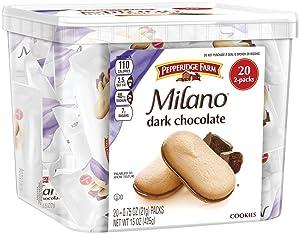Pepperidge Farm, Milano, Cookies, Dark Chocolate, 15 oz., Multi-pack, Tub, 20-count