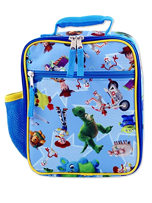 c0bb092a2a9a Toy Story 4 Boy's Girl's Soft Insulated School Lunch Box (One Size, Blue)