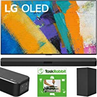 LG OLED77GXPUA 77 inch OLED TV GX Class Smart 4K Ultra HD 2020 Model w/Gallery Design & AI ThinQ Bundle SN5Y Sound Bar w…