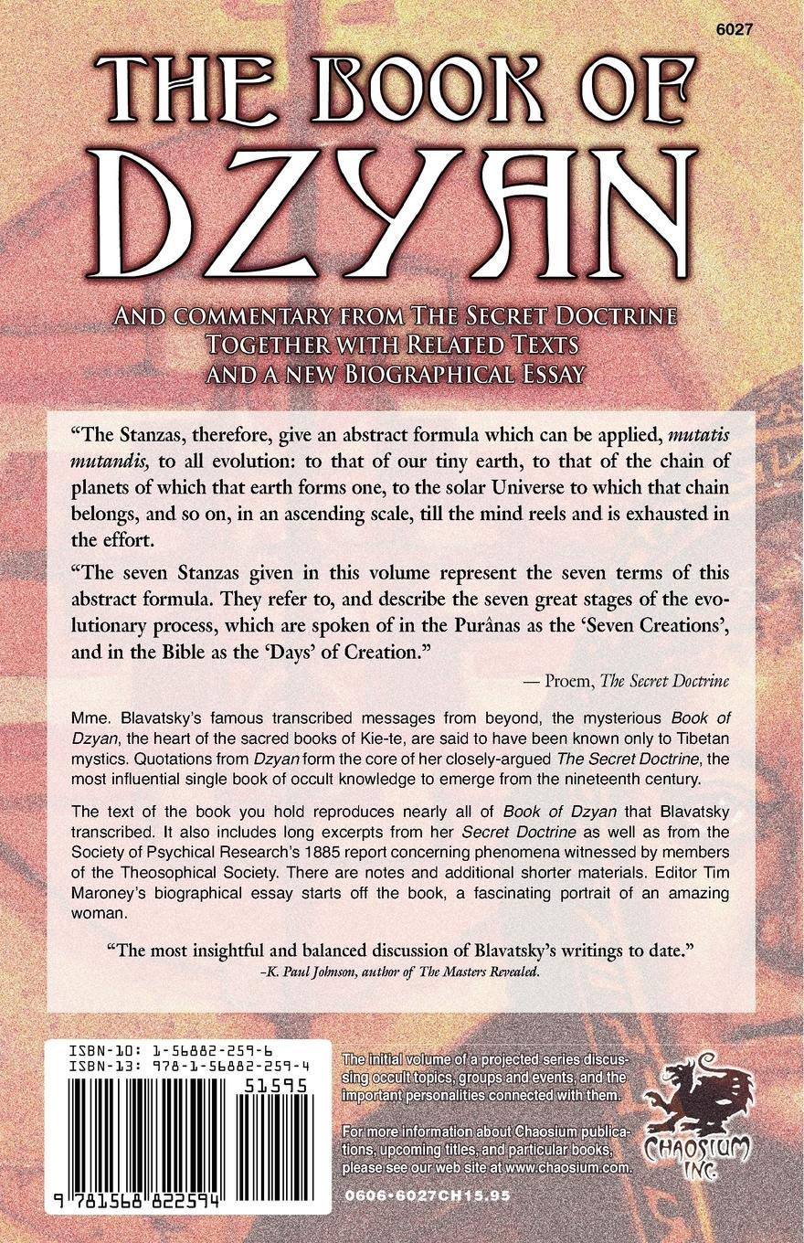 The Book of Dzyan: The Known Text, The Secret Doctrine
