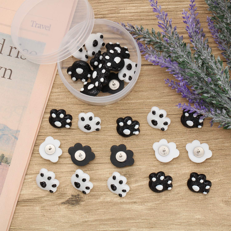 25 Piezas de Chinchetas con Impresi/ón de Pata Tachuelas de Animal Decorativas para Tablero de Corcho Hogar y Oficina Color 2