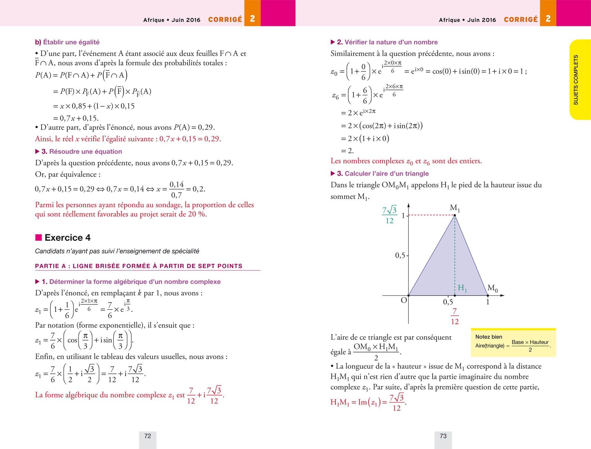 Annales Annabac 2017 Maths Tle S spécifique & spécialité: sujets et corrigés du bac Terminale S: 9782218998423: Amazon.com: Books