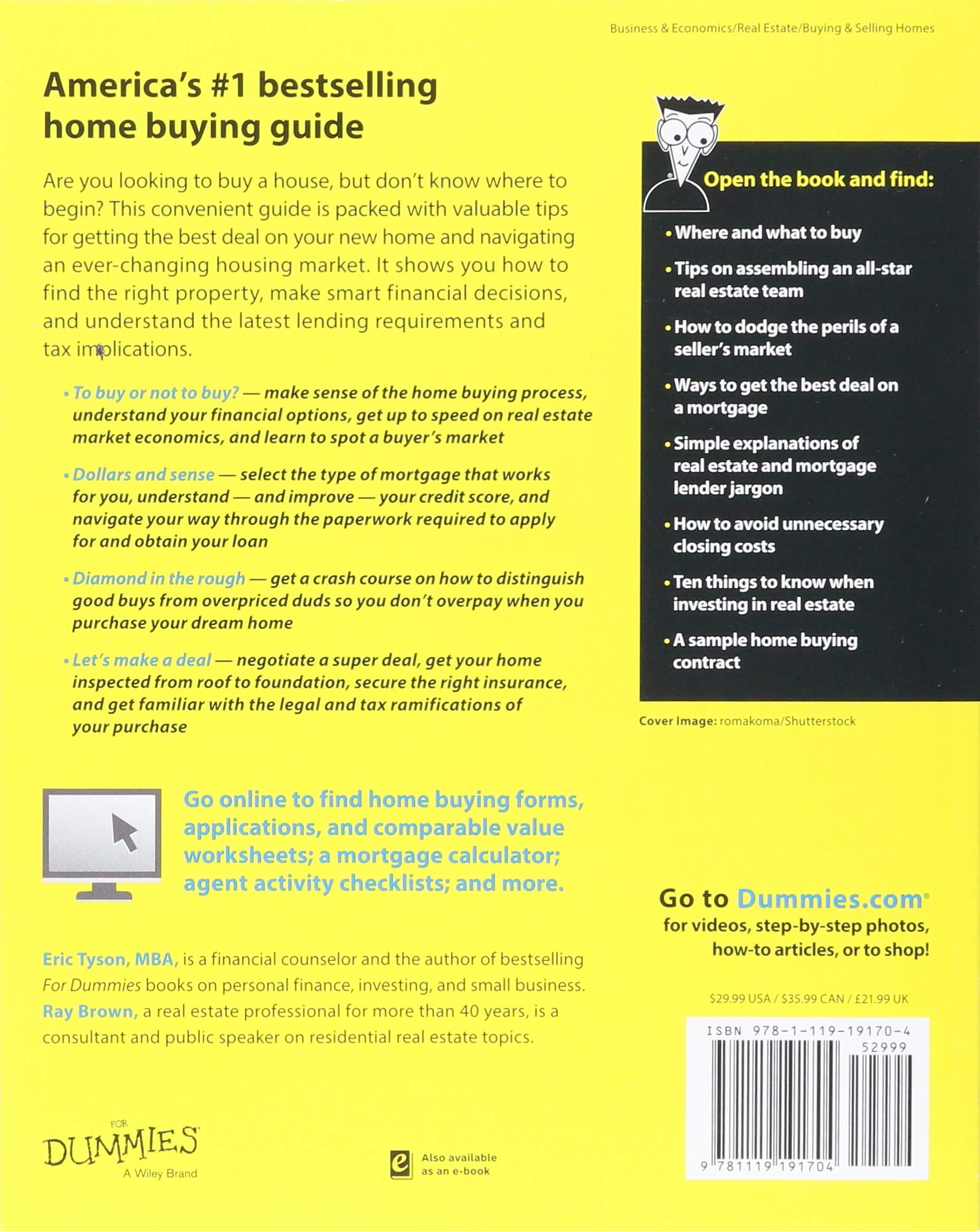 Home Buying Kit For Dummies: Eric Tyson, Ray Brown: 9781119191704:  Amazon.com: Books