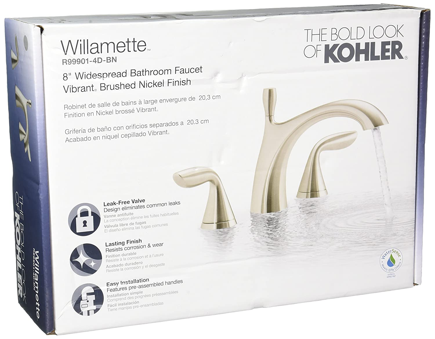 Kohler R99901-4D-BN Williamette Widespread Bathroom Sink Faucet ...