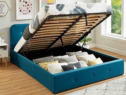 HOMIFAB - Cama baúl 140 x 190 cm, Color Azul Pato con ...