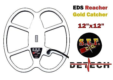 DETECH 12 × 12 pies S.E.F. Bobina de búsqueda de Mariposas Pro para detectores