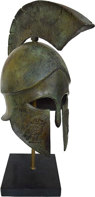 Ancient Greek Bronze Museum Replica Vintage Corinthian Soldier Battle Helmet