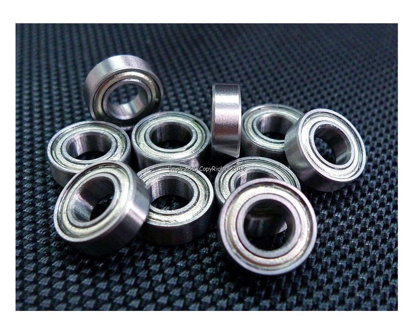 (10 PCS) MR126ZZ (6x12x4 mm) Metal Shielded Ball Bearing Bearings MR126z peel empire.rc