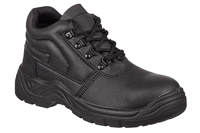 Mens Safety Work Boots With Steel Toe Cap & Midsole