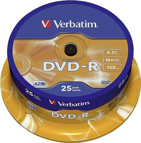 Verbatim Dvd R 16x Matt Silver 4 7gb I 25er Pack Computer Zubehör