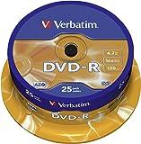 "Verbatim 43521"" DVD-R AZO 4,7 GB Spindel. 25 Stuk Spindle"