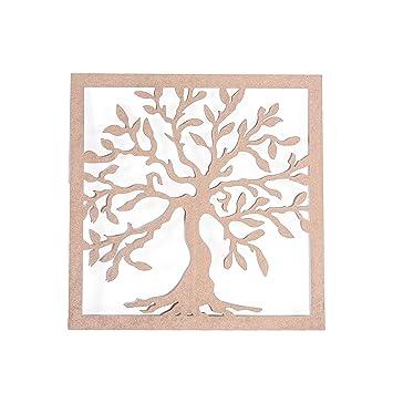 Ahşap Hobi Boyama Ağaç Tablo 56x56 Amazoncomtr 25 By Butik Garaj