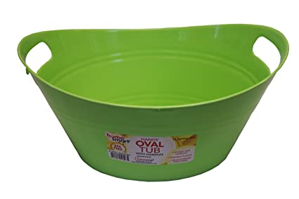 Delicieux Oval Plastic Storage Tubs With Handle   Small Size :(12.8u0026quot; X 9u0026quot;