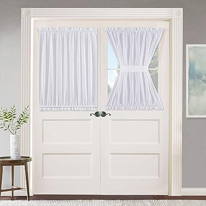 Amazon Nicetown White French Door Window Curtain Rod Pocket