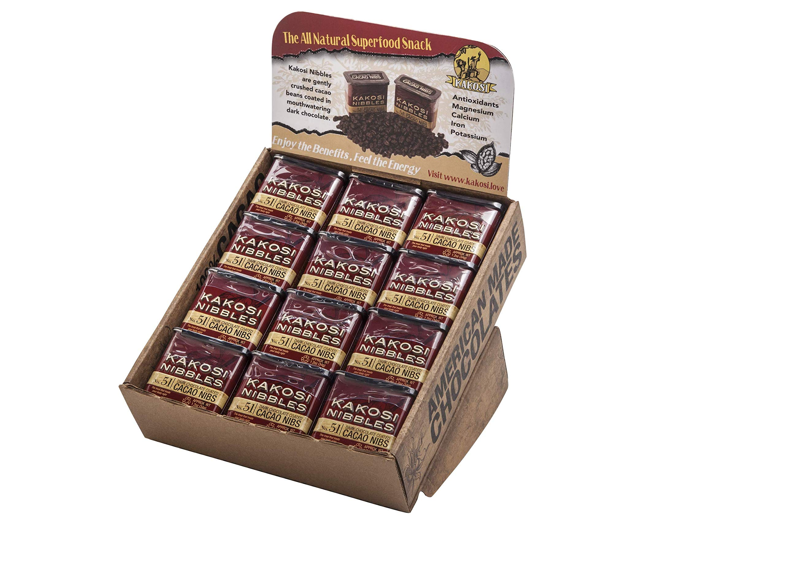 Kakosi Chocolate Covered Nibs - 24 pack