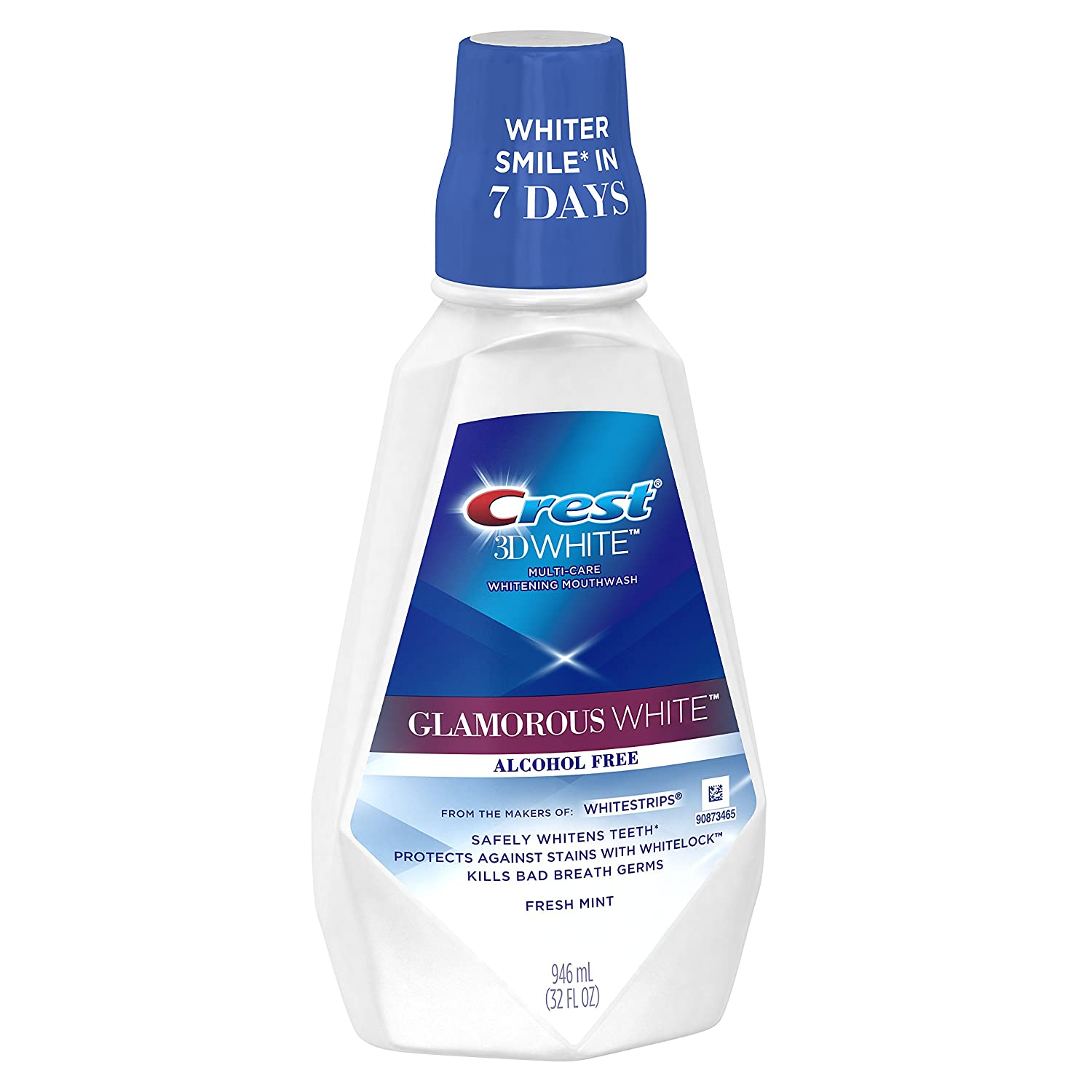 Crest 3D White Luxe Glamorous White Multi-Care Whitening Fresh Mint Flavor Mouthwash, Pack of 3 : Tooth Whitening Products : Beauty