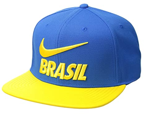 69cedab6107 Image Unavailable. Image not available for. Color  NIKE Brasil 2018 Pro Hat-  Blue Yellow