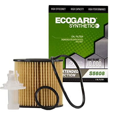 Ecogard S5608 Premium Cartridge Engine Filter for Synthetic Oil Fits Toyota Camry 2010-2020, RAV4 2.5L 2009-2020, Highlander 2008-2020, Sienna 2007-2020, Avalon 3.5L 2005-2020: Automotive