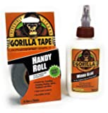 Gorilla Wood Glue 118ml and Best Selling Gorilla Handy Roll Tape - Set of Glue and Tape
