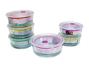 Vorratsdosen Glas aktion 2 6 x frischhalteschalen vorratsdosen aus glas mit