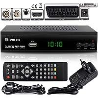 Strom 506 Decoder Digitale Terrestre DVB T2 / HDMI / DVB T2 HEVC / Full HD Ricevitore TV / Registratore USB Decoder PVR / DVB-T2 4K, Decoder Digitale Terrestre Scart, Decoder, Preamplificatore, Nero