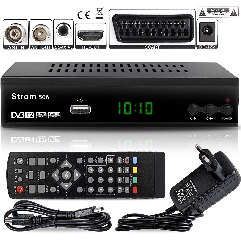 45fe116e ... Digital Terrestre — Decodificador DVB T / T2 ✓HDMI ✓DVB-T / DVB-T2  ✓Full HD ✓MPEG 2 ✓MPEG 4 ✓H.265 ✓1080i ✓1080p ✓ Fácil İnstalación — Negro