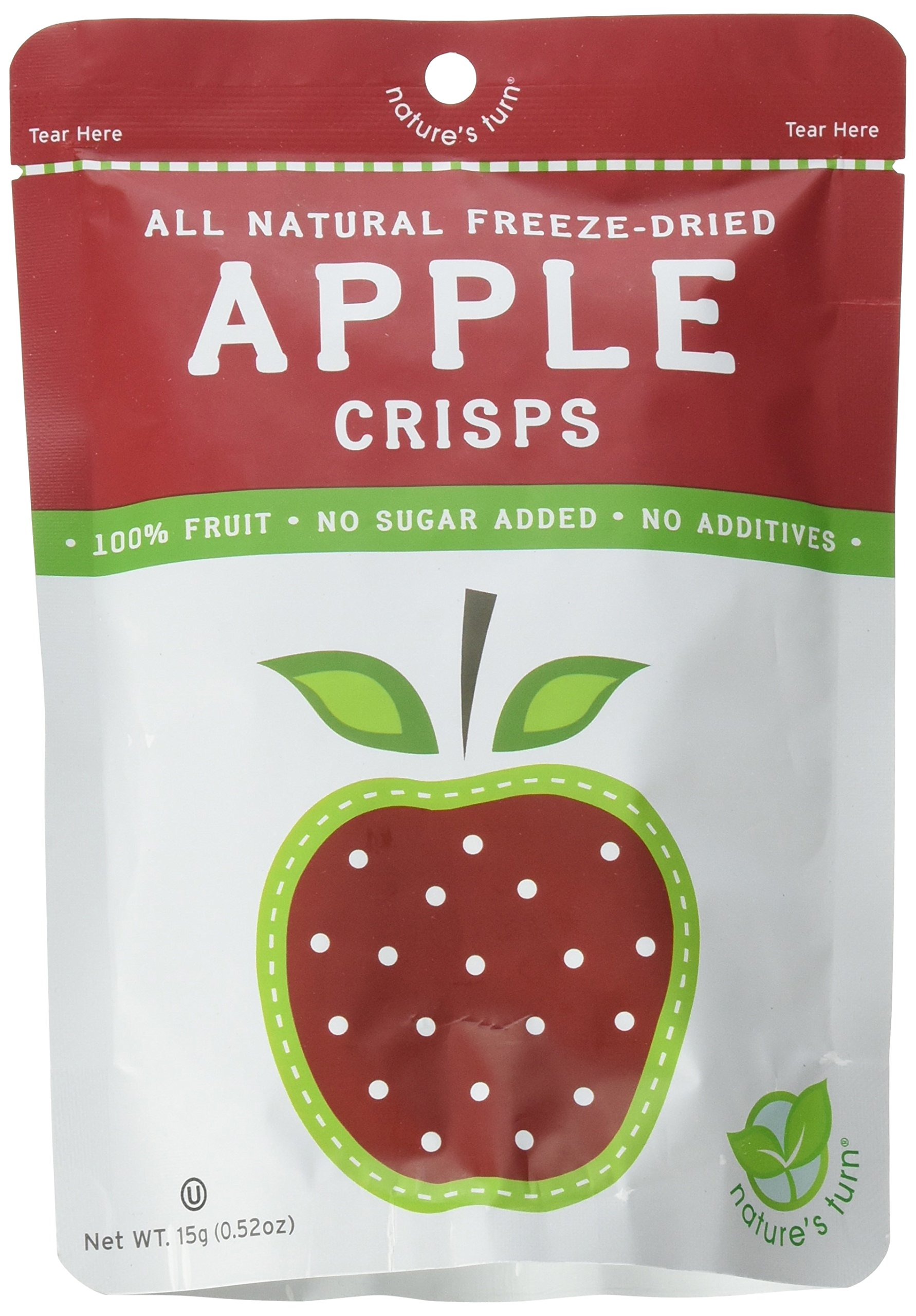 Nature's Turn All Natural Freeze Dried Crisps, Apple (Pack of 12) by Nature's Turn