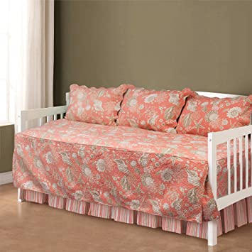 natural shells daybed bedding set in coral