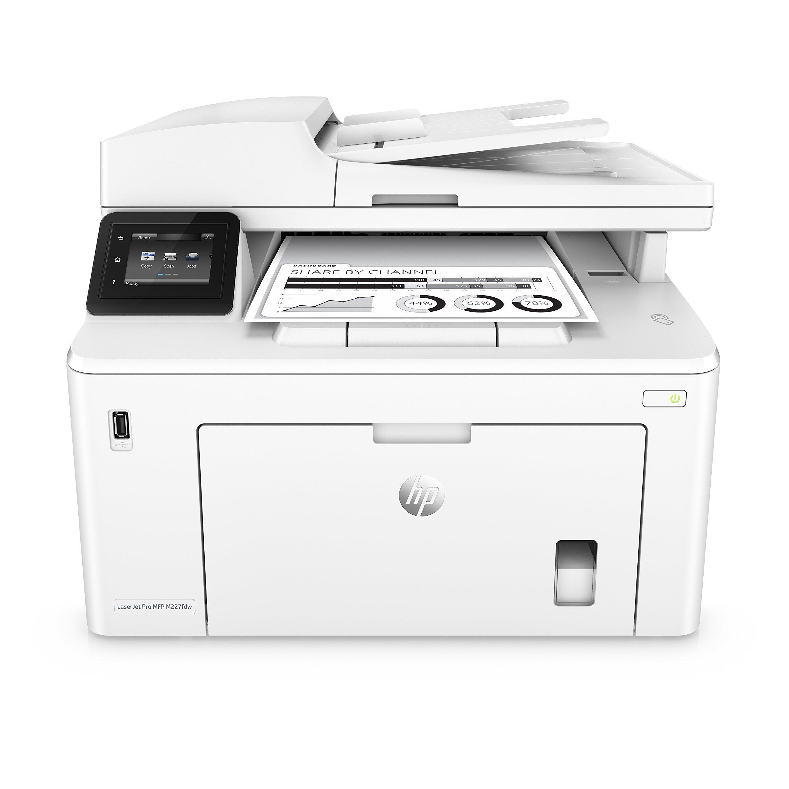 HP Laserjet Pro M227fdw All-in-One Wireless Laser Printer, Amazon Dash Replenishment Ready (G3Q75A). - (Renewed)
