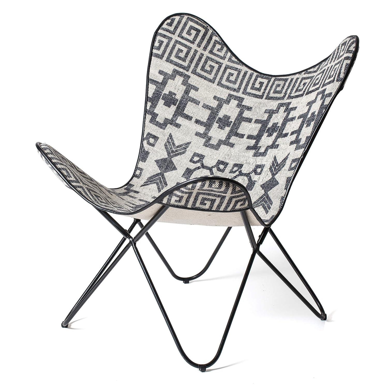 Bedruckte Teppichoberseite /& Stoffbespannung Madeleine Home Butterfly Chairs