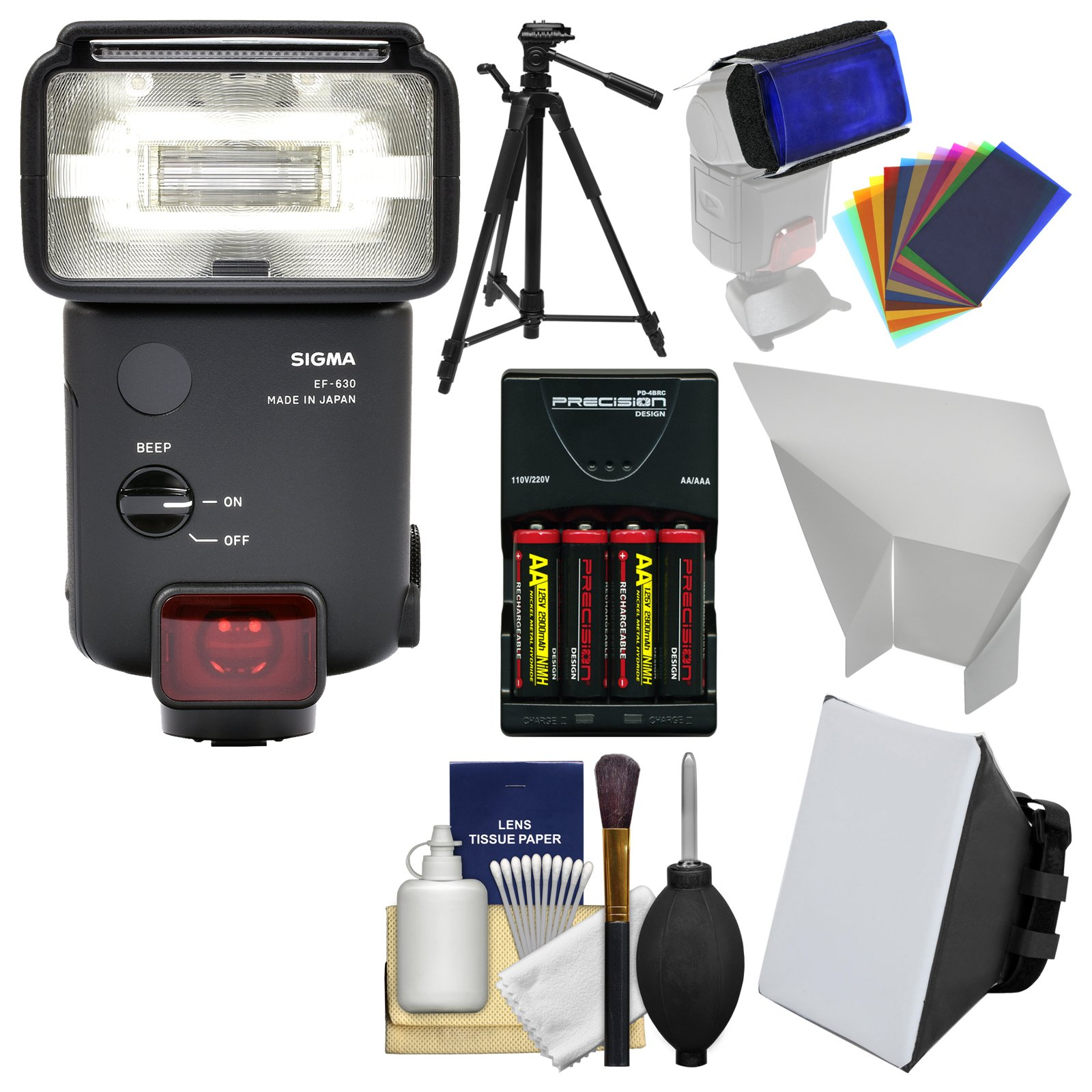 Sigma EF-630 Electronic Flash with Soft Box + Reflector + Tripod + Batteries & Charger + Kit for Canon EOS Digital SLR Cameras by Sigma