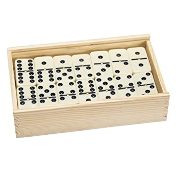 Buy Hey Play Premium Set Of 55 Double Nine Dominoes W Wood Case Game Online At Low Prices In India Amazon In