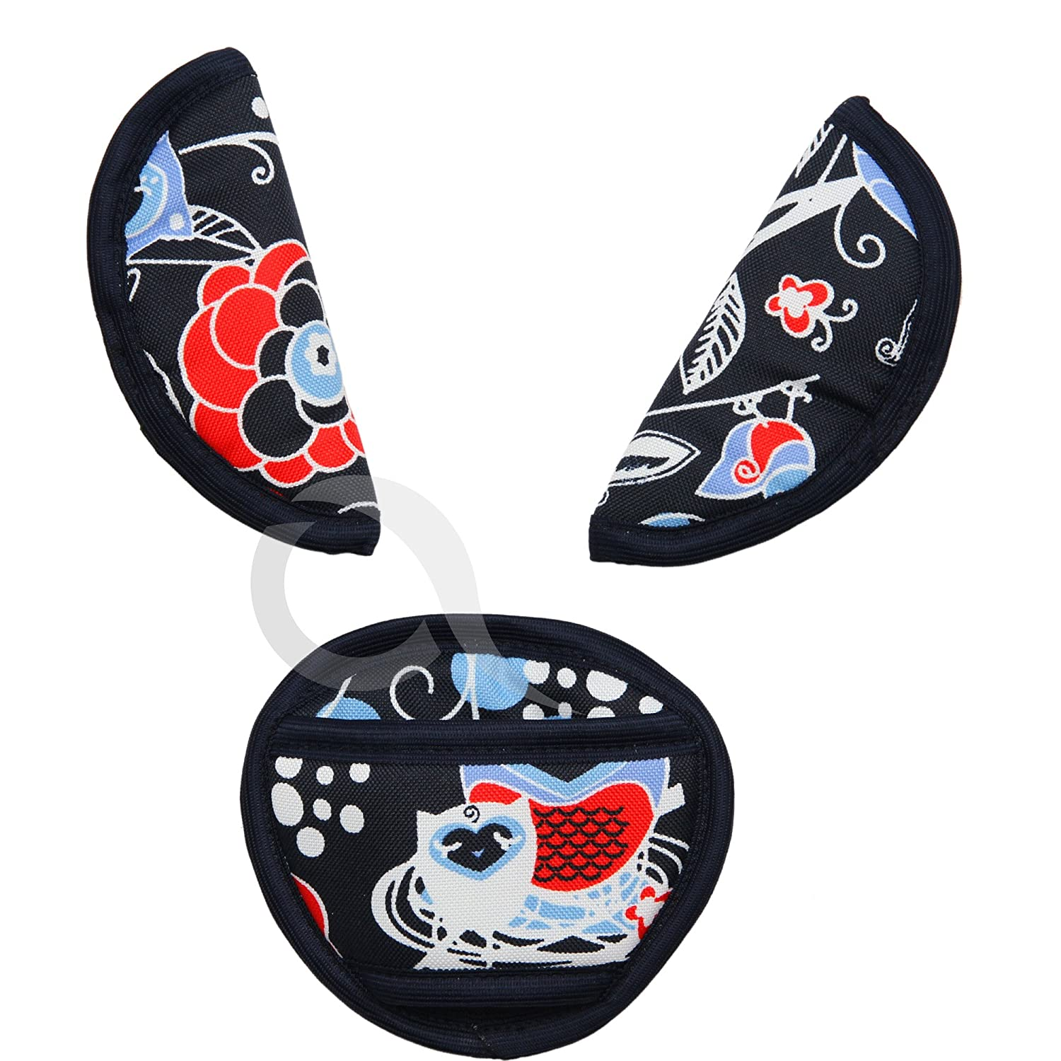 BELTS PADS SHOULDER STRAP & CROTCH cover UNIVERSAL Fits most buggy, stroller. car seat straps P044 olobaby