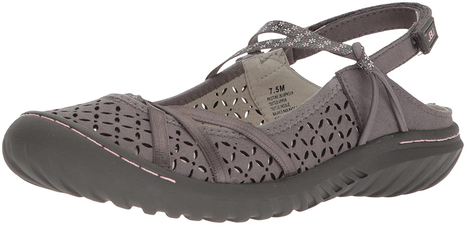 JBU by Jambu 8 Women's Pristine Mary Jane Flat B074KQX2TY 8 Jambu B(M) US|Grey 294843