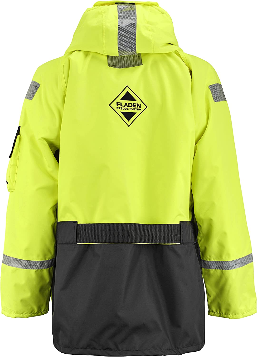 FLADEN RESCUE SYSTEM EN 393 Certified 22-846XY-L Black and Yellow SCANDIA Flotation Jacket Marine Buoyancy and Thermal Protection Large