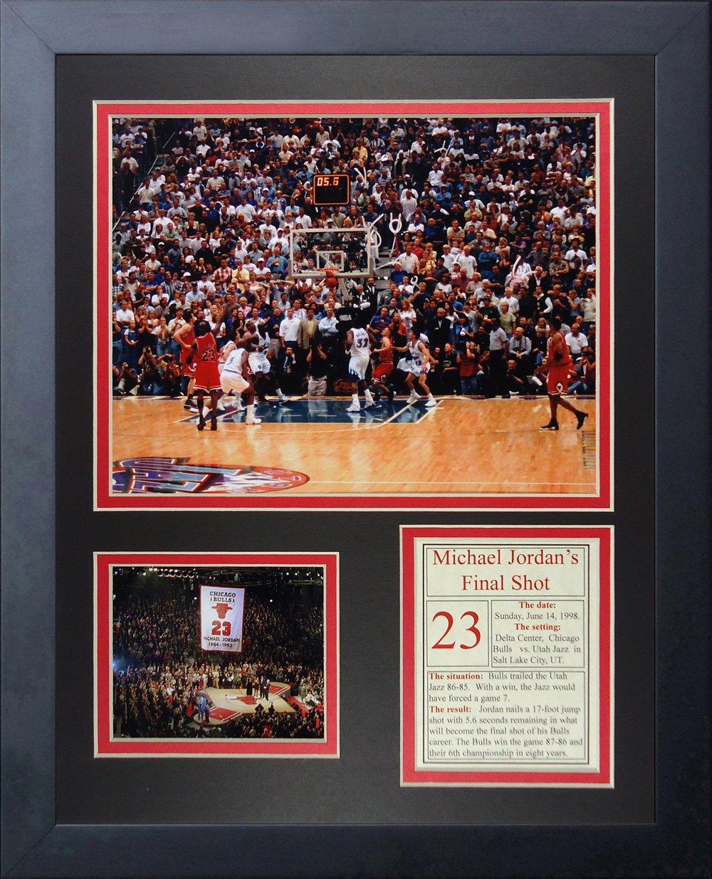Legends Never Die ''Michael Jordan Final Shot Framed Photo Collage, 11 x 14-Inch