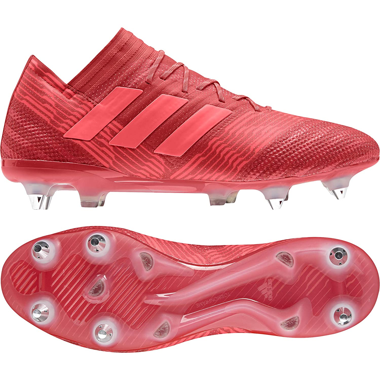 Rouge (Reacor rougezes Cnoir Reacor rougezes Cnoir) 44 EU adidas Nemeziz 7 SG, Chaussures de Football Homme