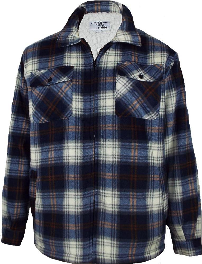 Camisa acolchada de piel de calidad con forro polar para hombre, diseño grueso tipo leñador, camisa de trabajo cálida en invierno, tallas S, M, L, XL, XXL, 3XL, 4XL, 5XL: Amazon.es: Ropa