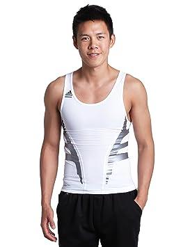 Adidas Techfit Powerweb - Camiseta de compresión Tank, Hombre, Blanco: Amazon.es: Deportes y aire libre