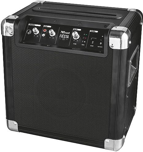 Trust Urban Fiesta Go - Altavoz/amplificador inalámbrico con Bluetooth y micrófono, 40W RMS