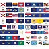 Assorted U 2401 S State Flags Self-Adhesive Flag Stickers Innovative Ideas Inc
