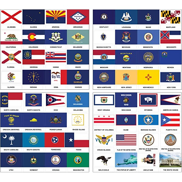 Adhesive Decals Various Sizes Set of 4 Vinyl Sticker Alaska State Flag
